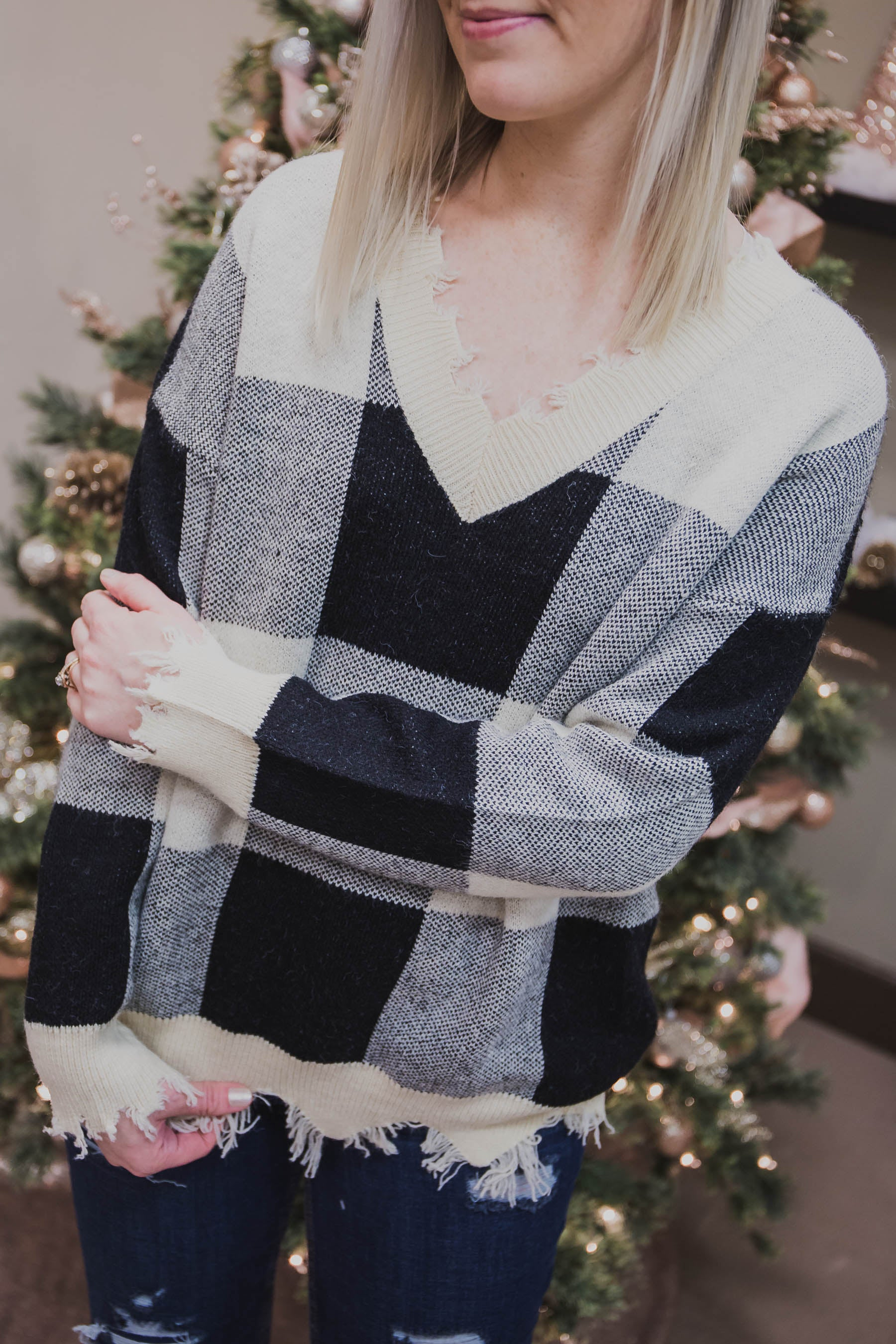 Misty Distressed Sweater