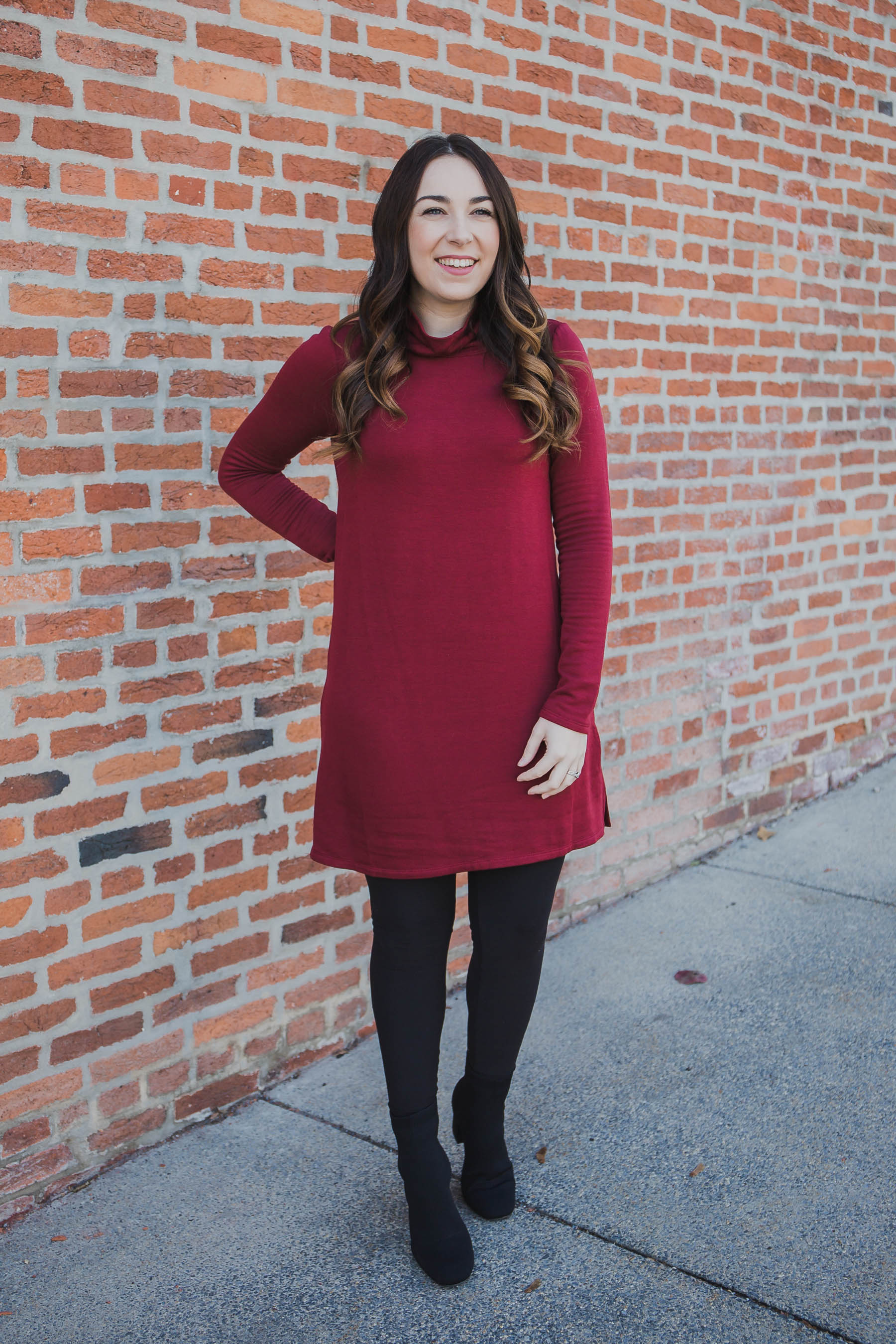 The Premium Fleece Turtle Neck Dress - Z Supply