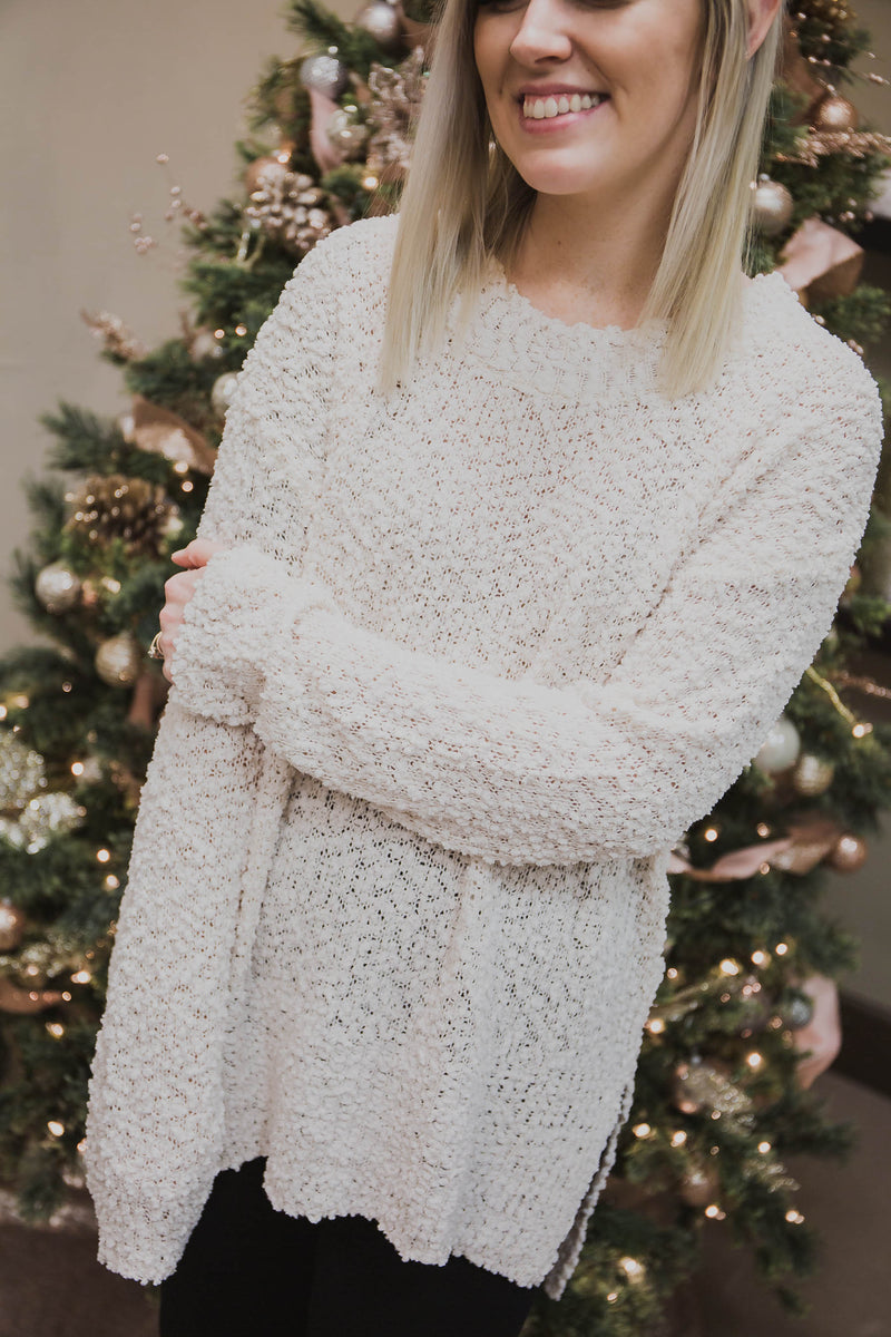 Lilly Popcorn Pullover Sweater
