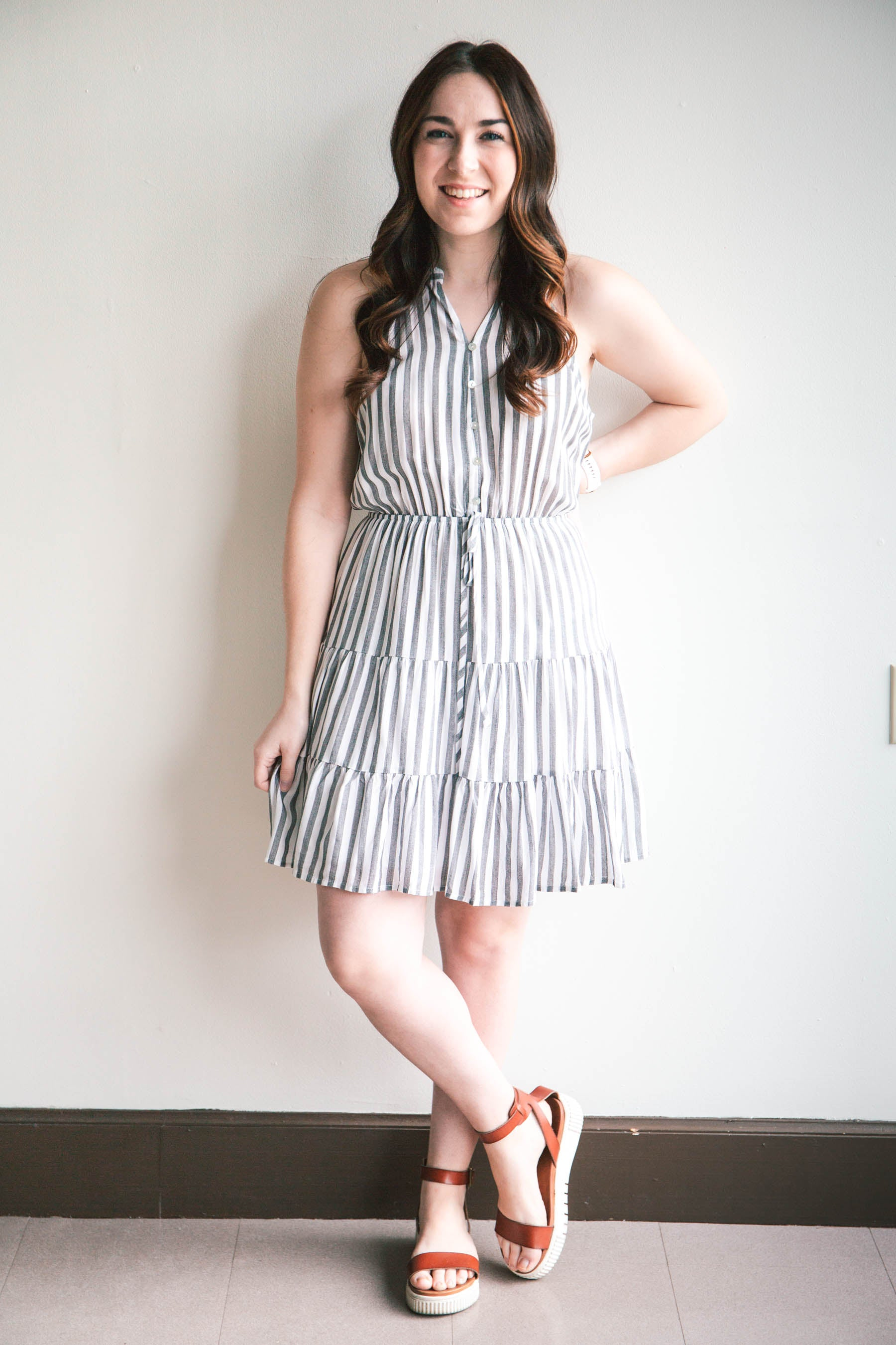 Sarah Striped Dress (FINAL SALE)