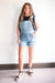 Caroline Distressed Overall Shorts (FINAL SALE)