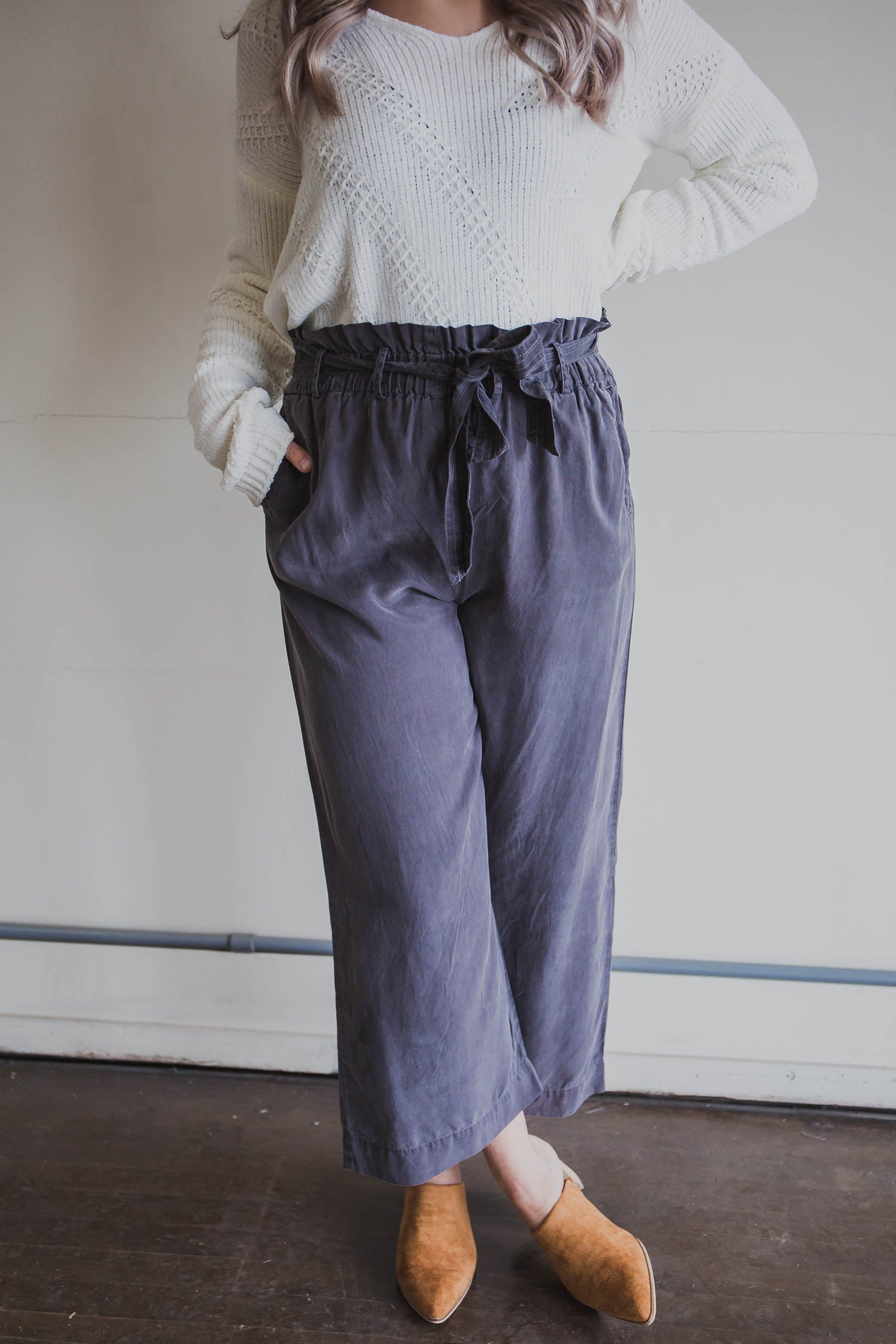 Wishful Belted Pants (FINAL SALE)