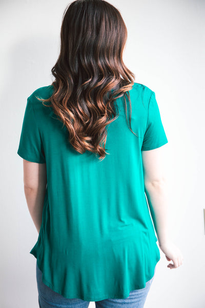 Perfect Pocket Tee in Solid Colors - Grace and Lace