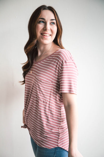 Perfect Pocket Tee in Prints - Grace and Lace