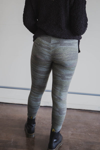 The Camo Mod Knit Leggings - Z Supply (FINAL SALE)