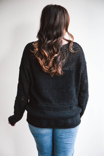 Tiana Crochet Slouchy Top (FINAL SALE)