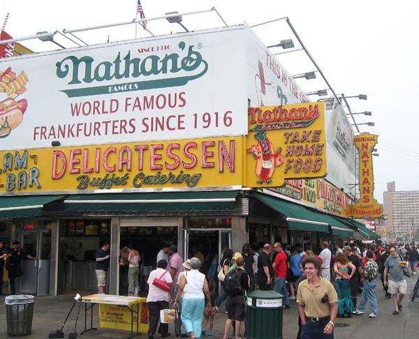 nathan hot dog coney island french français pas cher