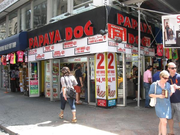 voyage new york français pas cher papaya dog hot