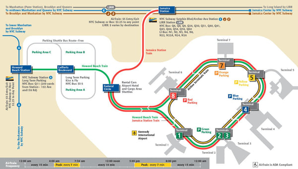 plan métro station jfk aeroport