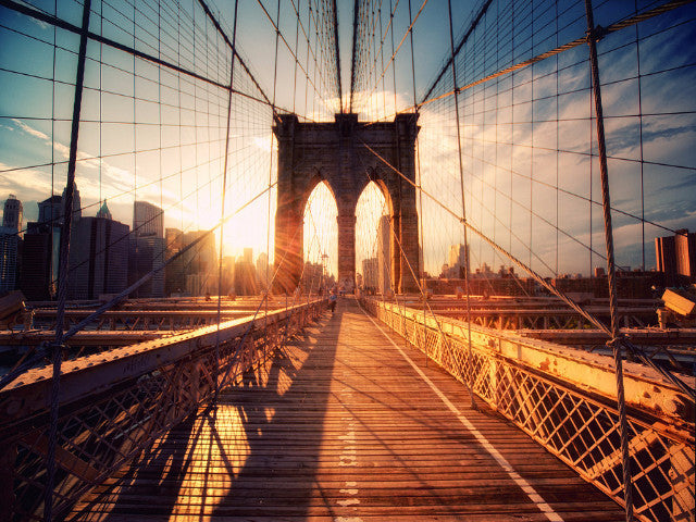 TOUR : Brooklyn Bridge au coucher de soleil (Dumbo et Seaport Village)