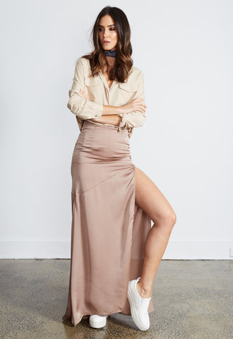 LIONESS Crawford Silky Maxi Skirt
