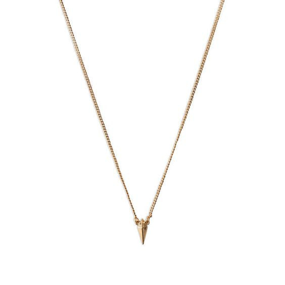 Luvaj Mini Spike Charm Rose Gold Necklace