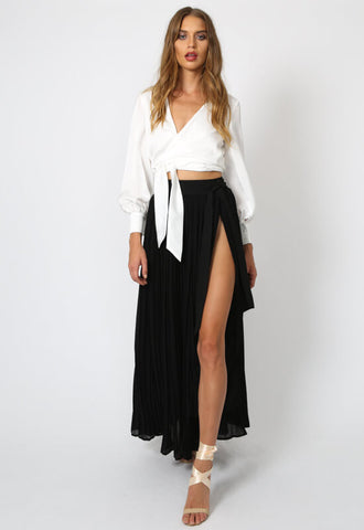Lioness Piazza Pleated Maxi Skirt