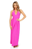 Amanda Uprichard Mercer Halter Maxi Dress in Hot Pink