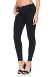 BLACK ORCHID Noah Ankle Fray Skinny Jeans, Pitch Black