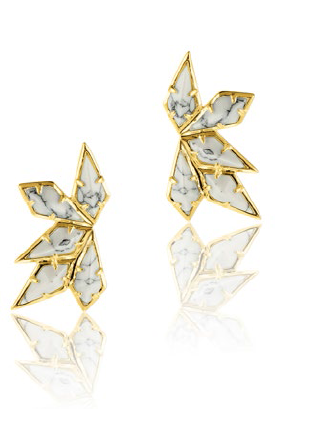 LUV AJ Marble wing earrings