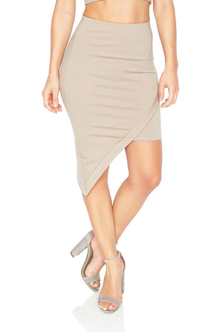 Donna MIzani Asymmetrical Mini Skirt