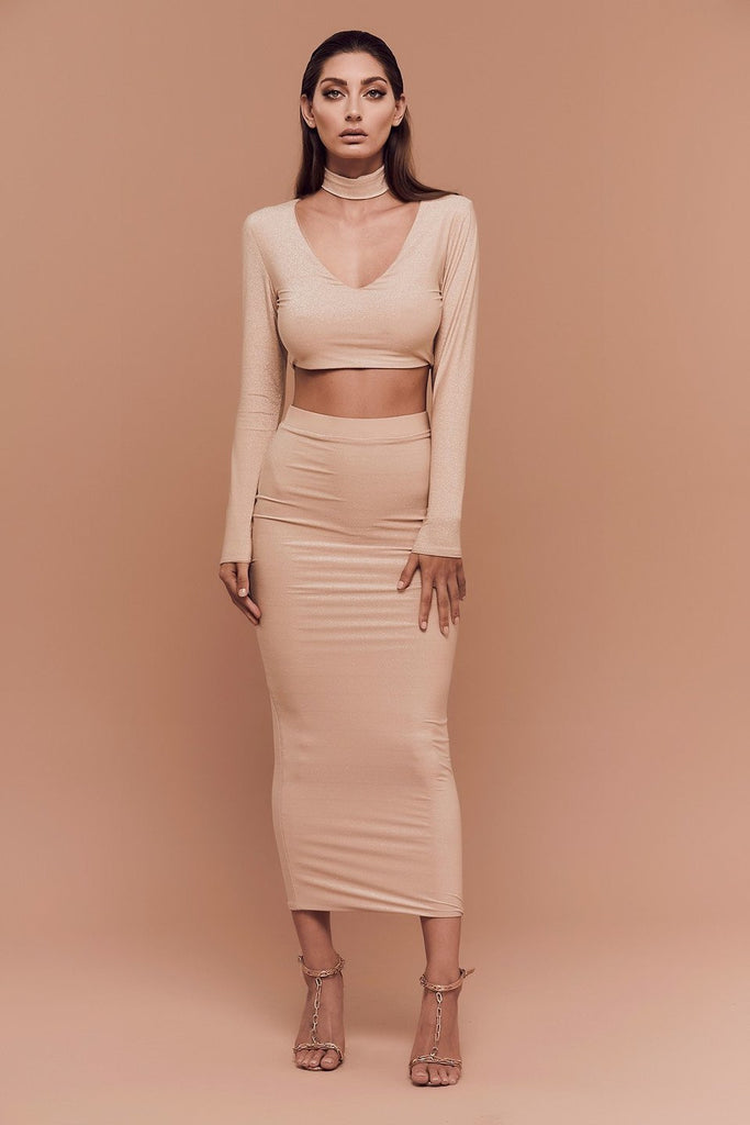 BOSSA Kylie Long Sleeve Crop Top