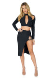 ROG Blair Cut out Bandage Crop Top & Skirt Set
