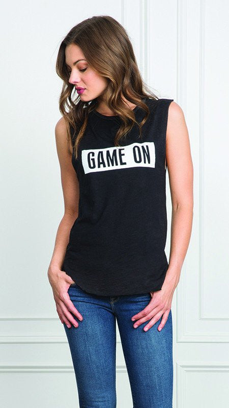 "Tyler Jacobs Cut Off ""Game On"" Tee - Tank Top front"