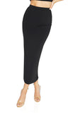 Bossa Silhouette long Maxi Skirt, Black