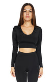 Bossa Heir Hoodie Long sleeve Crop Top front