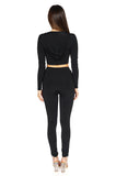 Bossa Heir Hoodie Long sleeve Crop Top