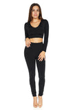 Bossa Heir Hoodie Long sleeve Crop Top full