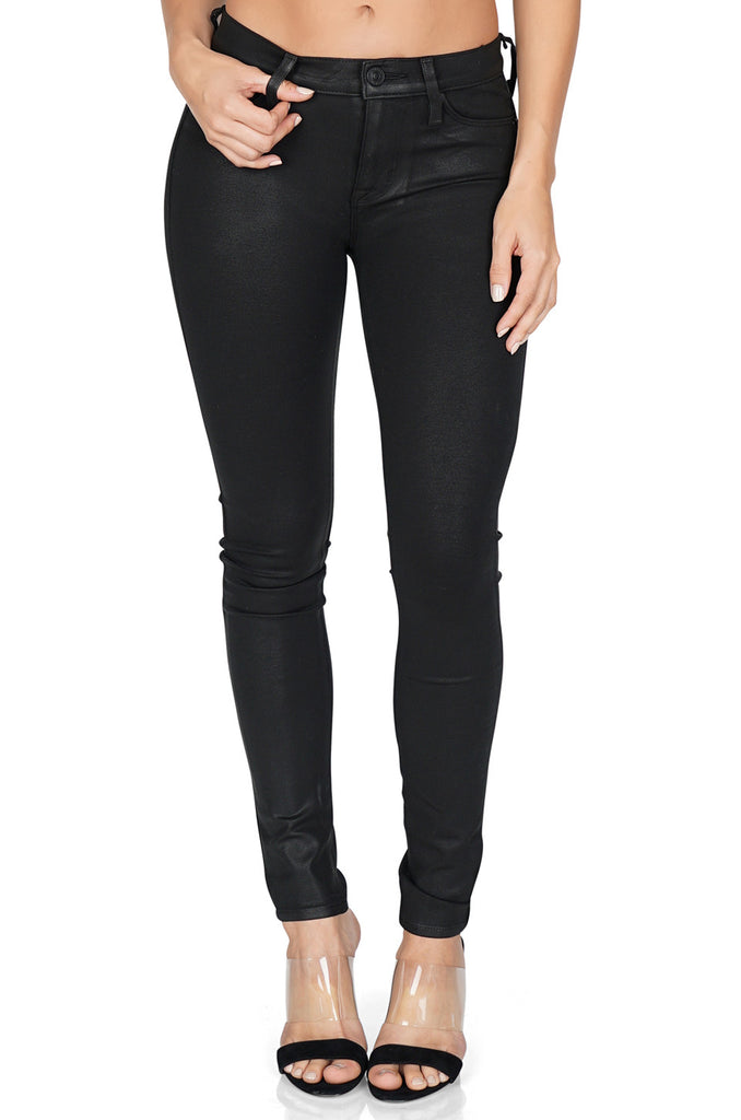 Hudson Nico midrise super skinny jeans front
