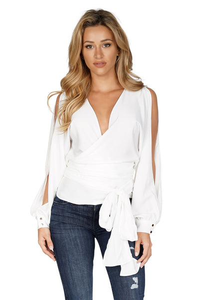 Premonition Athena Wrap Top front