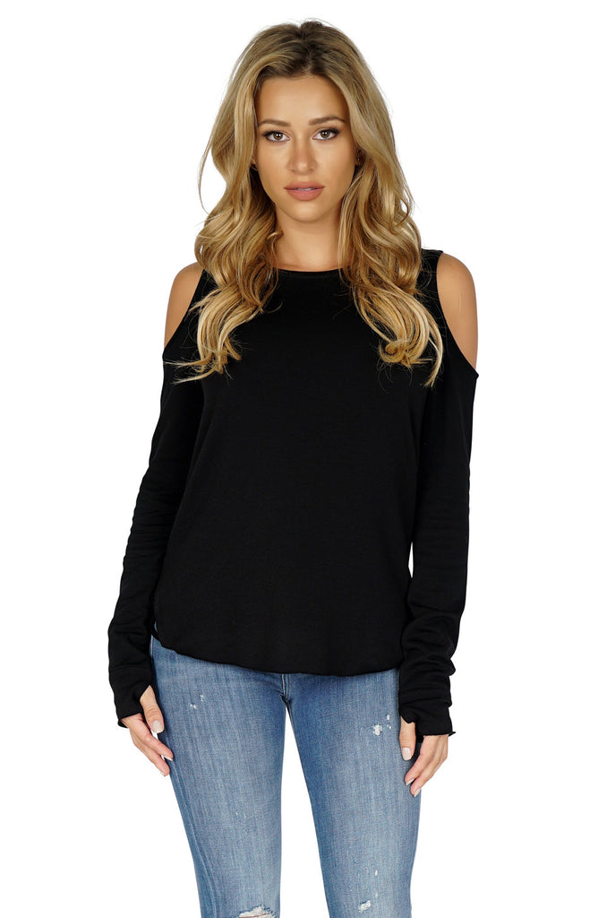 GENERATION LOVE Marie Crisscross Cold Shoulder Sweater front