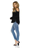 GENERATION LOVE Marie Crisscross Cold Shoulder Sweater full