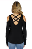 GENERATION LOVE Marie Crisscross Cold Shoulder Sweater back