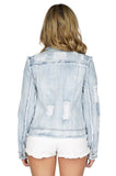 GENERATION LOVE Madison Distressed Denim Jacket back
