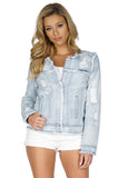 GENERATION LOVE Madison Distressed Denim Jacket front