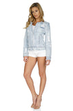 GENERATION LOVE Madison Distressed Denim Jacket full