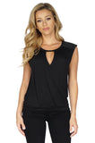 GENERATION LOVE Keyhole Sleeveless Top front