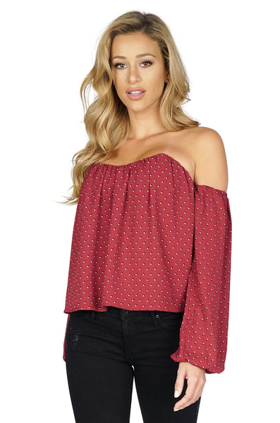 ROG Willow  Off Shoulder Bustier Blouse