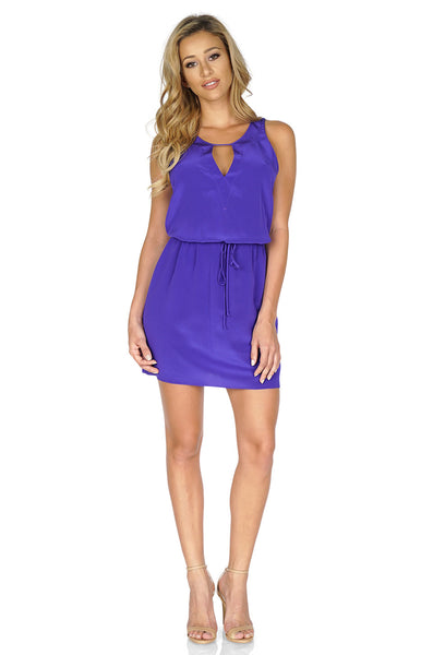Rory Beca Women's Hali Keyhole Dress in Purple front