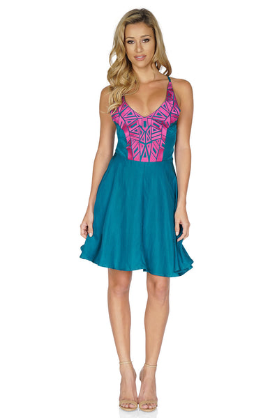 Amanda Uprichard Women's Embroidered Dress front