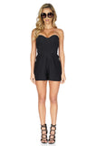 Parker Women's Sutton Strapless Black Romper front