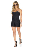 Parker Women's Sutton Strapless Black Romper