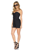 Parker Women's Sutton Strapless Black Romper side