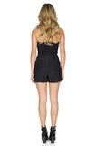 Parker Women's Sutton Strapless Black Romper back