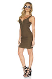 ROG Aubrey Zip Up Tank Dress, Olive side