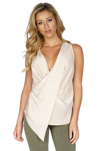 Amanda Uprichard Women's Deborah Sleeveless Silk Tank Top front