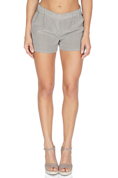 Equipment Women's Landis Relaxed Fit Shorts In Green/White Front