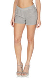 Equipment Women's Landis Relaxed Fit Shorts In Green/White Side