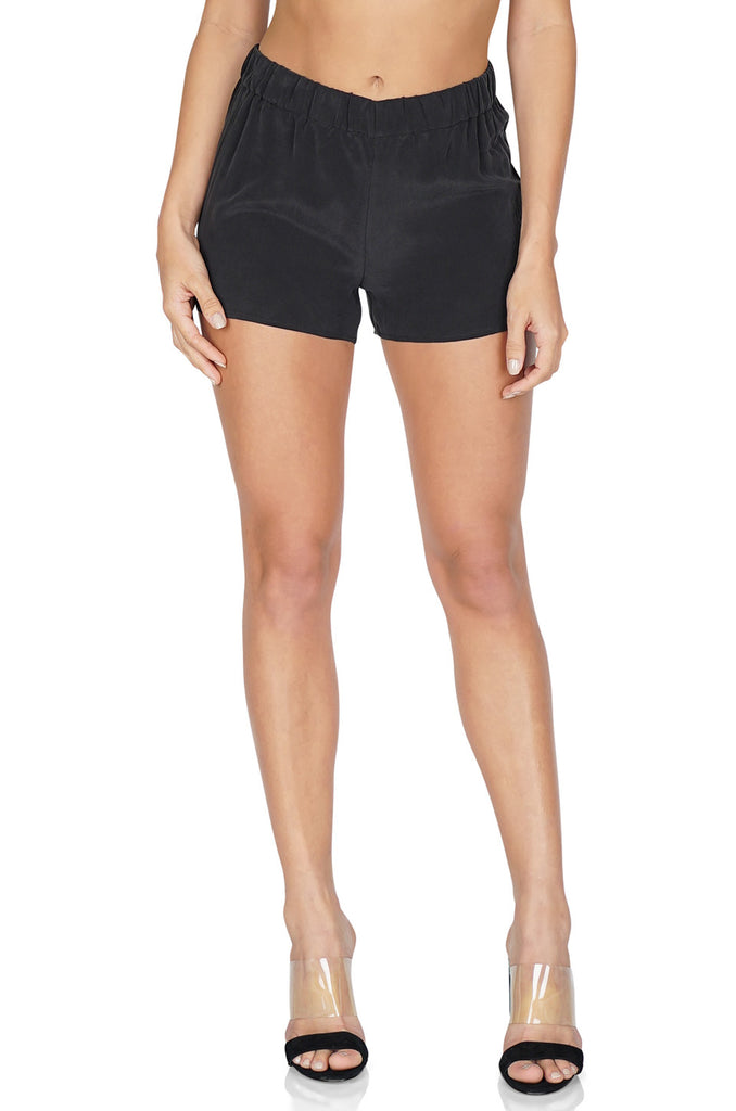Equipment Women's Landis Relaxed Fit Black Shorts front