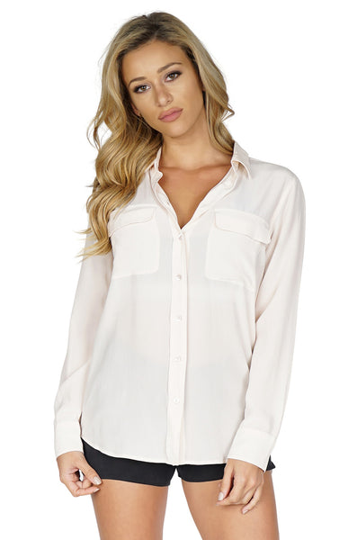 Equipment Slim Signature Button Down, Chalk Pink